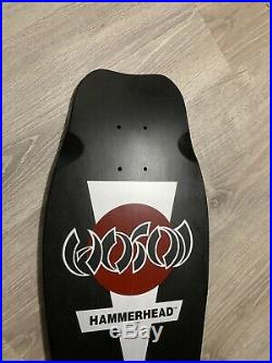 NOS Original Hosoi Hammerhead Skateboard Signed Powell Santa Cruz Dogtown Z