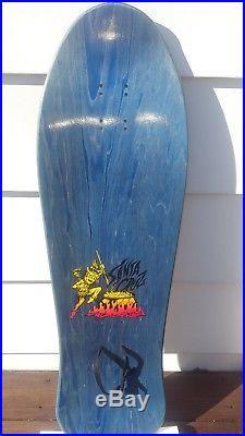 NOS SANTA CRUZ SALBA TIGER RARE BLUE STAIN Reissue SKATEBOARD DECK
