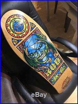 NOS Santa Cruz Bod Boyle Stained Glass OG Rare Vintage Old School Skateboard