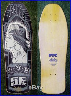 NOS Signed Mike giant FTC Skateboard Rebel8 SMA BDS Dogtown Cruz tattoo Gangstar