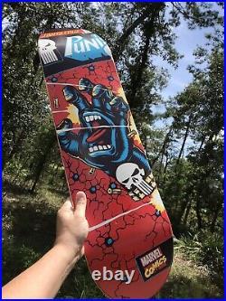 NOS The Punisher Santa Cruz x Marvel Skateboard Deck LTD Ultra Rare