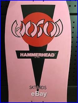NOS Vintage Hosoi Hammerhead NHS Skateboard Deck Santa Cruz Powell Peralta 80's
