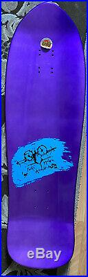 Natas Evil Cat Skateboard Deck Metallic Purple Santa Cruz SMA 32.02 X 10.13 RARE