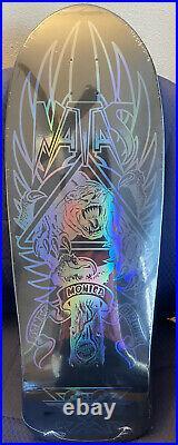 Natas Kaupas Santa Cruz Blind Bag Reissue Skateboard Deck Black Prismatic