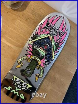 Natas Kaupas Santa Cruz Blind Bag Skateboard Deck Silver Foil Custom