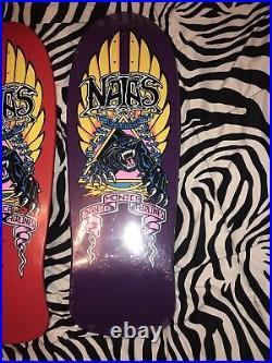 Natas Panther 2 Deck Set Santa Monica Airlines Natas Krupas Skateboard Decks