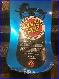 Natas Panther Santa Cruz skateboard deck Metallic Blue Reissue Limited Sealed