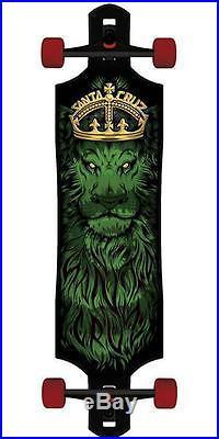 New Santa Cruz Lion God Tie-Dye Drop Thru Cruzer Complete Skateboard 40in x 10in
