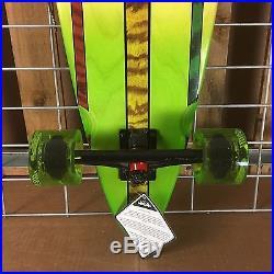 New Santa Cruz Mahaka Rasta Pintail Cruzer Complete Skateboard 39in x 9.58in