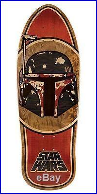New Santa Cruz Star Wars Boba Fett Inlay Collectible Skateboard Deck 10.35in