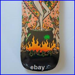 New! Santa Cruz Steve Alba Salba Witch Doctor Grand Shaped Skateboard Deck 9.75
