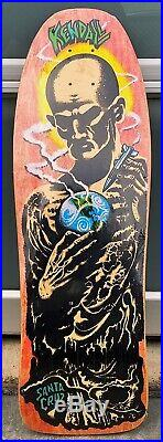 Nos 1990 Mint In Shrink Santa Cruz Jeff Kendall Atom Man Skateboard Deck