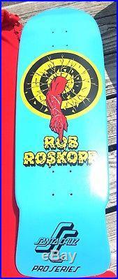 Nos Rare Santa Cruz Rob Roskopp Skateboard Deck Old School Reissue #5
