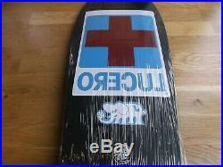 Nos Santa Cruz Lucero Red Cross Skateboard Deck In Black