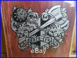 Nos Santa Cruz Soren Aaby Coat Of Arms Skateboard Deck New 1989 Mint In Shrink