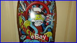Nos Santa Cruz The Simpsons Skateboard Deck Early 2000's Sea Captain Deck New In