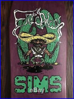 OG NOS Vintage 1987 SIMS Eric Nash Bandito Skateboard Deck Santa Cruz Powell