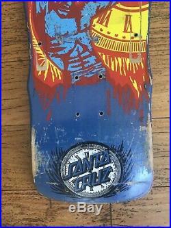 OG Santa Cruz Claus Grabke Hold Back Time Vintage Skateboard
