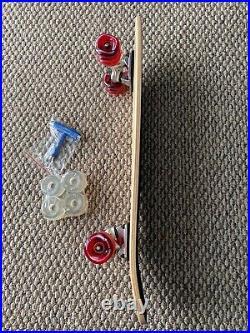 Old School 70s Skateboard 29X 8 NOS Deck & Santa Cruz Decal Shark Wheels