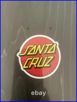 Old School Reissue Santa Cruz Jason Jessee Sun God Raised Ink Skateboard Deck