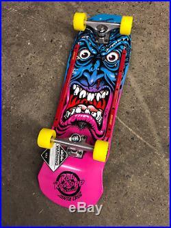 Old School Santa Cruz Roskopp Face Fade Re-Issue Complete Skateboard 9.5 x 31.5