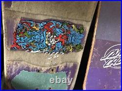 Old Vintage 1980s OG Santa Cruz Purple Roskopp Target 5 Skateboard Deck