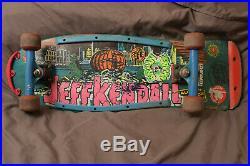 Orig Jeff Kendall pumpkin Skateboard skate 80's Jim Phillips Santa Cruz Natas