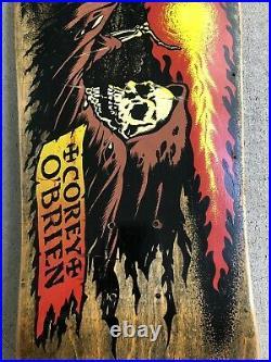 Original 1980s Santa Cruz Corey OBrien Reaper Skateboard Deck Brown Cloak Rare