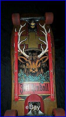 Original 1990 Santa Cruz Jeff Kendall Jagermeister Skateboard Lester Wheels RARE