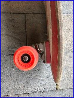 Original Santa Cruz Street Bullet Skateboard 1980s. Everything is original