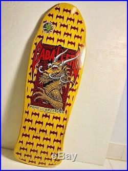 Powell Peralta Caballero Dragon Bats Skateboard Deck NEW! SMA Santa Cruz Yellow