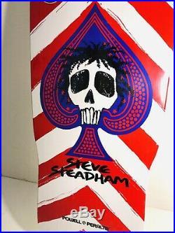 Powell Peralta Steadham Skateboard Deck! New! Santa Cruz RED & WHITE Spades