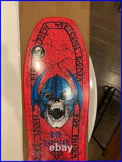 Powell Peralta Welinder Nordic Skull Skateboard Deck NEW! Santa Cruz HOT PINK