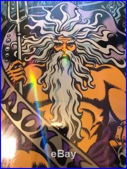 RARE NOS Santa Cruz Skateboards Jason Jesse Bat Neptune Prism Deck Ltd 500 Rare