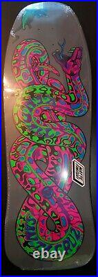 RARE SANTA CRUZ BLACKLIGHT skateboard Jeff Kendall Snake ReIssue Deck LIMITED