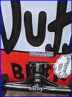 RARE Santa Cruz THE SIMPSONS DUFF BEER CAN NEW Cruiser Skateboard OJlll wheels