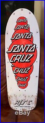 Rare 1985 Santa Cruz Skateboard Team Deck Dots R/S Edition- Sims Kryptonics G&S