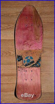 Rare 1990 Tracker Alarm Clock Skateboard Deck Santa Cruz Vision Alva Dogtown BDS
