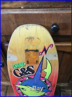 Rare G&S 1987 BOD BOYLE Vintage skateboard Vision Powell Peralta Santa Cruz sma