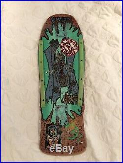 Rare OG Vision Jinx Vintage Skateboard Deck Santa Cruz Powell Peralta Alva Sims