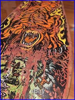 Rare Original Santa Cruz Salba Tiger Skateboard Classic Skate Deck Skulls