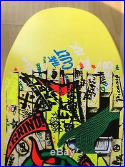 Rare Santa Cruz 30 Fckin' Years. Jeff Kendall. Graffiti Wall. #491. Yellow. NOS