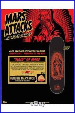 Rare Santa Cruz Mars Attacks 8.25 Skate Deck