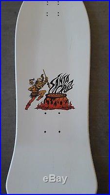 Rare Santa Cruz Salba WHITE tiger NOS reisssue skateboard 1980s Natas grosso