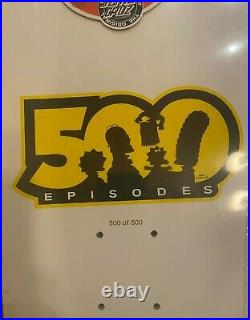 Rare Santa Cruz Slasher Skateboard Deck Simpsons Bart Limited #500 of 500 Bonus