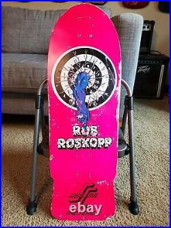 Rare Vintage Original 1984 Santa Cruz Rob Roskopp 1 target Skateboard Deck PINK