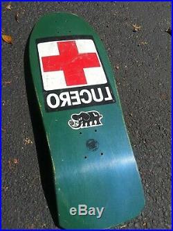 Rare Vintage Santa Cruz John Lucero NOS RED CROSS skateboard Black Label Natas