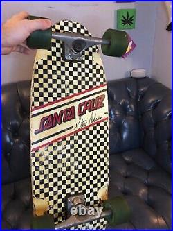 Rare Vintage Santa Cruz Skateboard Steve Olson Pro Model Skate Deck Complete