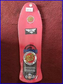 Rob Roskopp Santa Cruz Eye Skateboard Deck RED Reissue New In Shrink