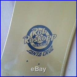 Rob Roskopp Santa Cruz Face Gold Foil Skateboard Deck 9.5IN Vans Exclusive